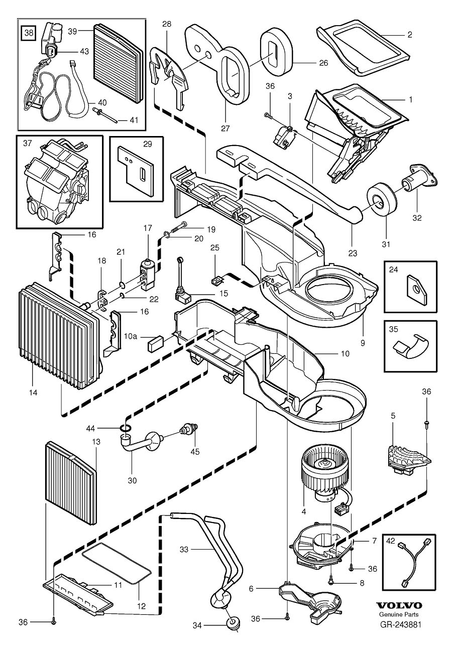 2002 volvo s60 parts diagram